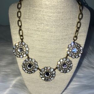 J. Crew Rhinestone Statement Necklace